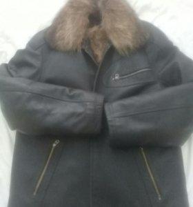 Куртка кожаная натуральная мех отстегивается