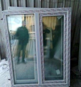 Двухстворчатое окно 1200*1500