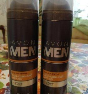 Avon men гель для бритья