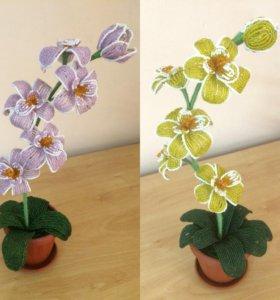 Цветок. Орхидея из бисера