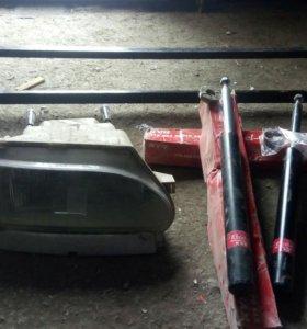 Фара правая,стойки передние новые Каяба,багажник
