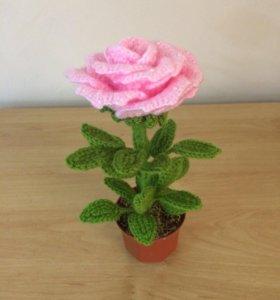 Цветок. Роза вязаная
