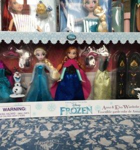 Набор кукол Анна и Эльза с гардеробом