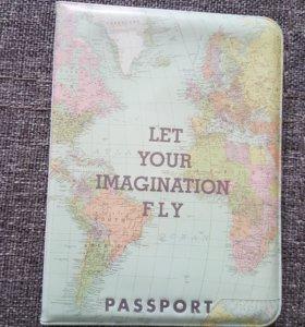 Обложка для паспорта с рисунком картой