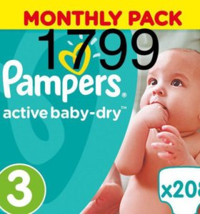 Pampers active baby dry 3 размер