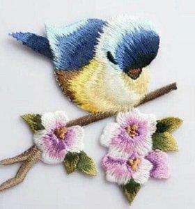 Вышивка птички 2 шт