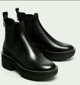 Новые кожаные ботинки/ботильоны Zara 36