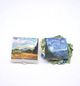 Стикеры в виде репродукций картин Ван Гога