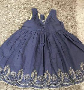 Новое хлопковое платье на 1-1,5 года