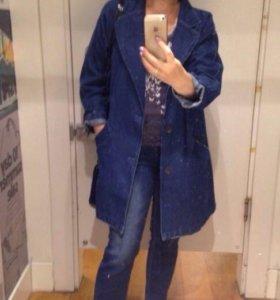 Джинсовое пальто Mango