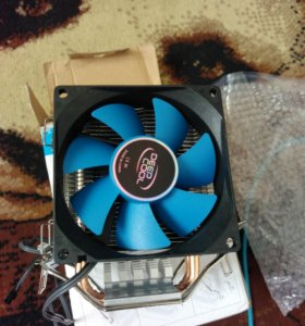 Охлаждение DeepCool ICE edge mini. 2 трубки и вент