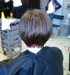 Стрижки женские, мужские. Окрашивание, причёски.