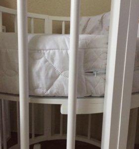 Матрац в круглую кроватку
