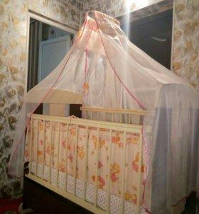 Кроватка детская.Все за 5000