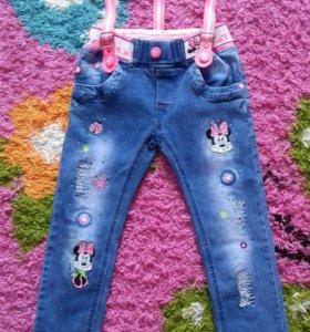 Джинсы для модницы на 4-5 лет