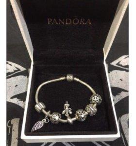 Браслет Pandora и 7 шармов (оригинал)