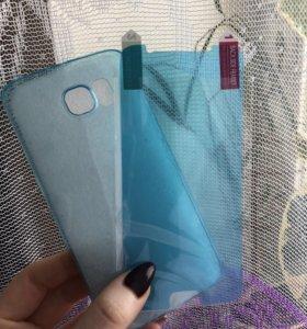 Силиконовый чехол + Защитное стекло для телефона.