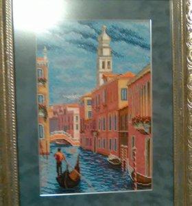 """Картина бисером """"Венеция. Колокольня Сан-Марко""""."""