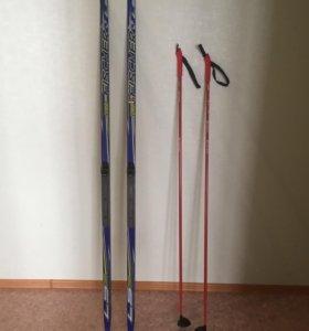 Лыжи комплект Fischer