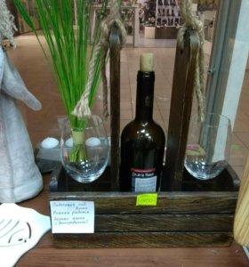 Подставка под вино деревянная