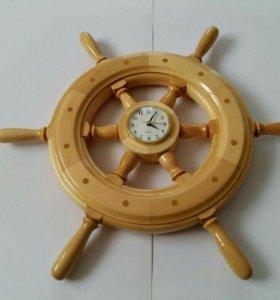 Стильные часы-штурвалы ручной работы