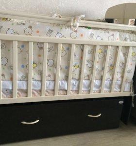 Детская кровать маятник