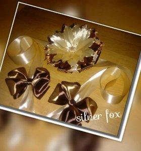 Бант на выписку шоколадных оттенков