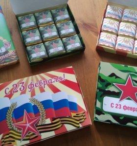 Праздничные наборы конфет 23 февраля