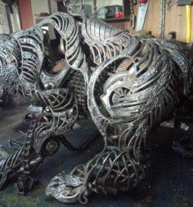 Скульптура Гризли