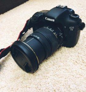 Фотоаппарат Canon EOS 7D + объектив Sigma DC 17-50