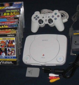 PS One Playstation 1 + игры