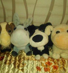 "Мягкие игрушки-животные из ""Дикси""."