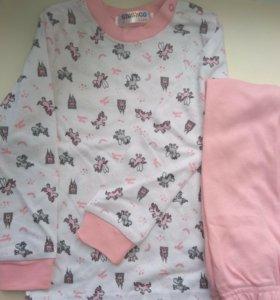 Пижама для девочек 2-6 100% хлопок
