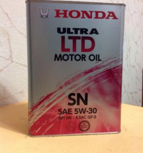 масло моторное Honda Ultra LTD 5w-30, 4литра