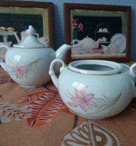 Заварочный чайник и сахарница (комплект)