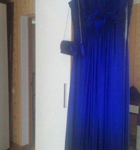 Платье вечернее с клатчем р 56