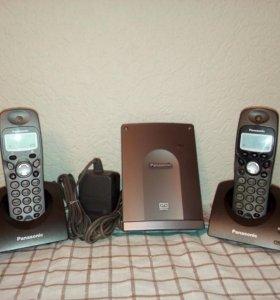 Радиотелефон Panasonic с двумя радиотрубками