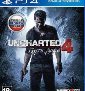 Диск на PS 4 UNCHARTED 4 Путь вора