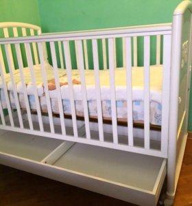 Детская кроватка,Италия.Ортопед матрас.