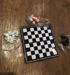 Шашки, шахматы, нарды. 3в1