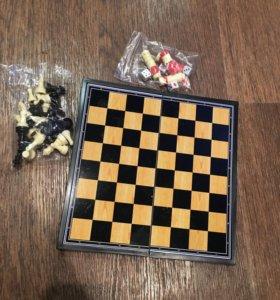 Шашки, шахматы, нарды, 3в1
