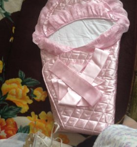 Конверт-одеяло с кружевами