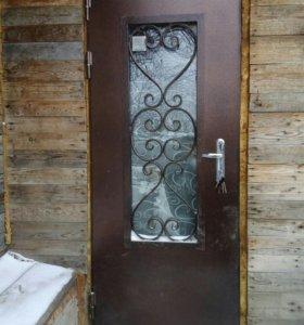 Дверь металлическая со стеклопакетом