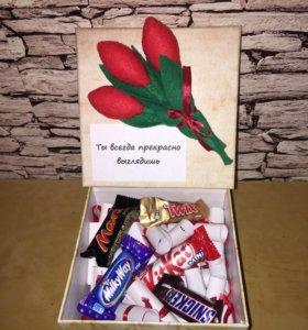 Подарочная коробочка к 8 марта!