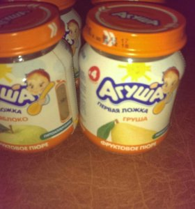 Детское питание фруктовое пюре