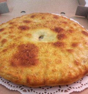Осетинский пирог с сыром яйцом и зеленью
