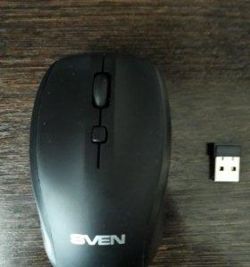 Мышь беспроводная Sven RX-305 черный