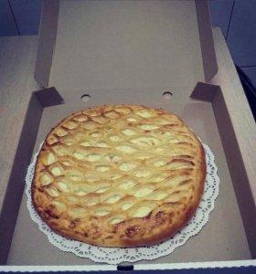 Осетинский пирог с грушей, мандарином и творогом