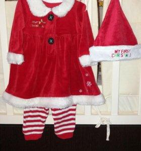 Комплект, платье на Новый год mothercare