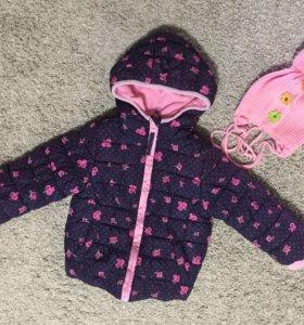 Куртка mothercare + шапка
